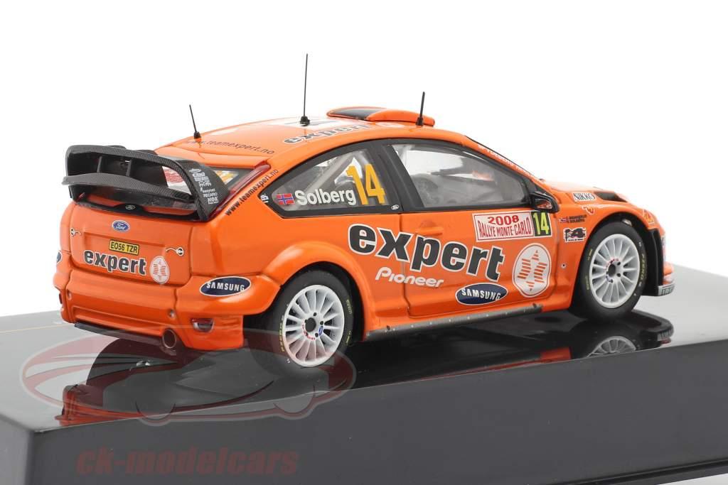 Ford Focus RS 07 WRC #14 reunión Monte Carlo 2008 Solberg, Menkerud 1:43 Ixo