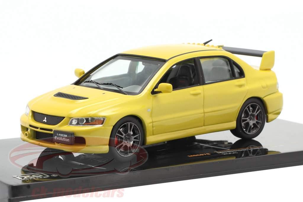 Mitsubishi Lancer Evo IX an 2006 jaune 1:43 Ixo