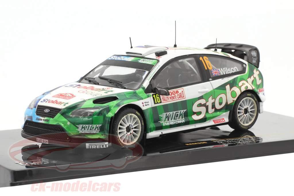 Ford Focus RS 07 WRC #16 se rallier Monte Carlo 2008 Wilson, Martin 1:43 Ixo