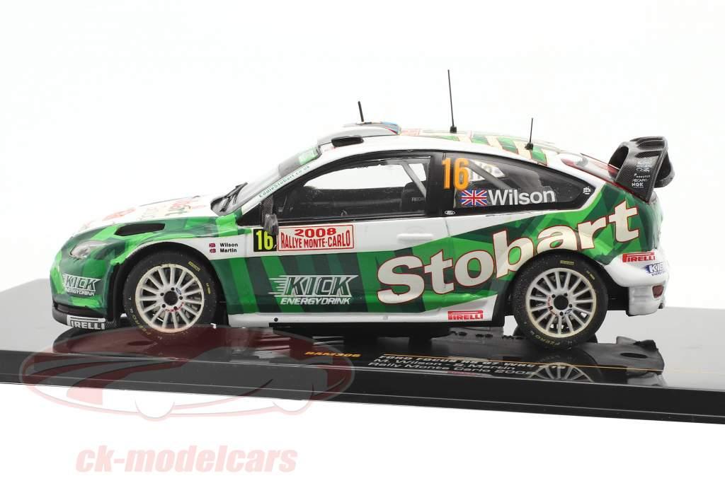 Ford Focus RS 07 WRC #16 corrida Monte Carlo 2008 Wilson, Martin 1:43 Ixo