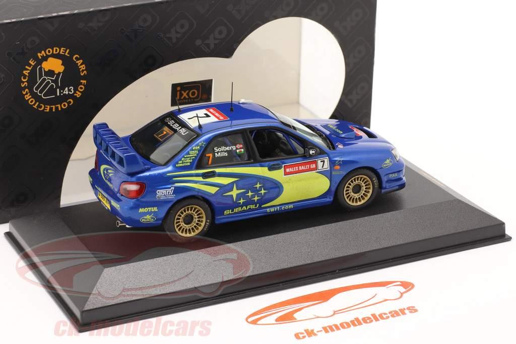 Subaru Impreza WRC #7 gagnant RAC 2003 Solberg, Mills 1:43 Ixo