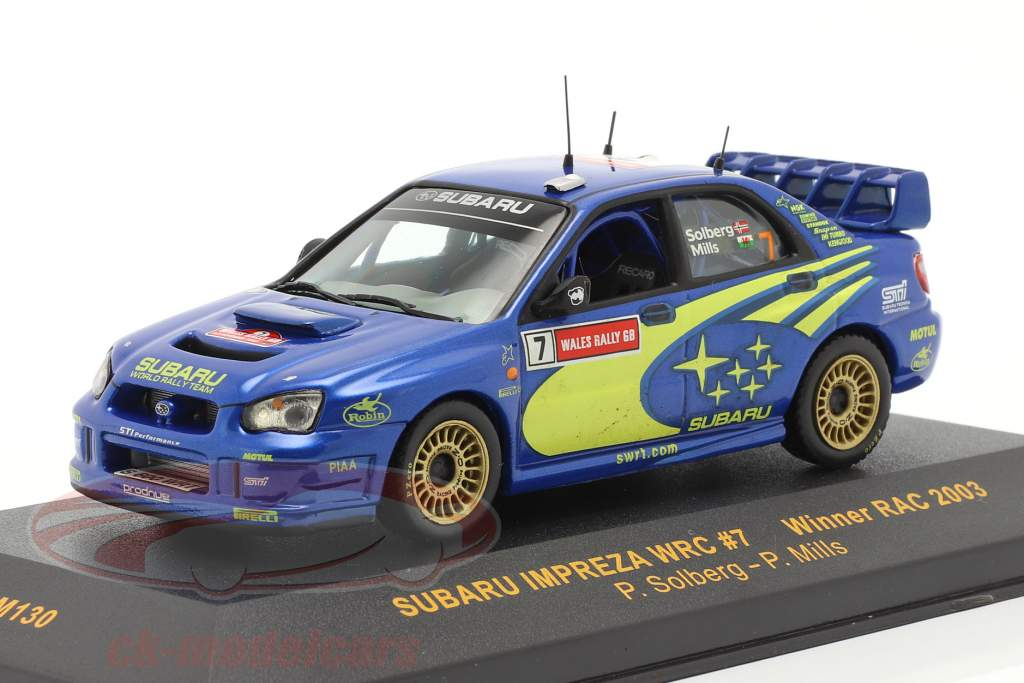 Subaru Impreza WRC #7 winnaar RAC 2003 Solberg, Mills 1:43 Ixo