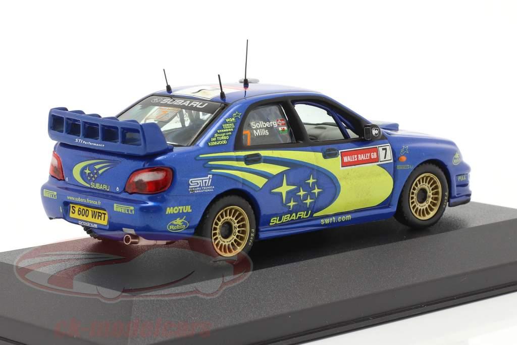 Subaru Impreza WRC #7 vincitore RAC 2003 Solberg, Mills 1:43 Ixo