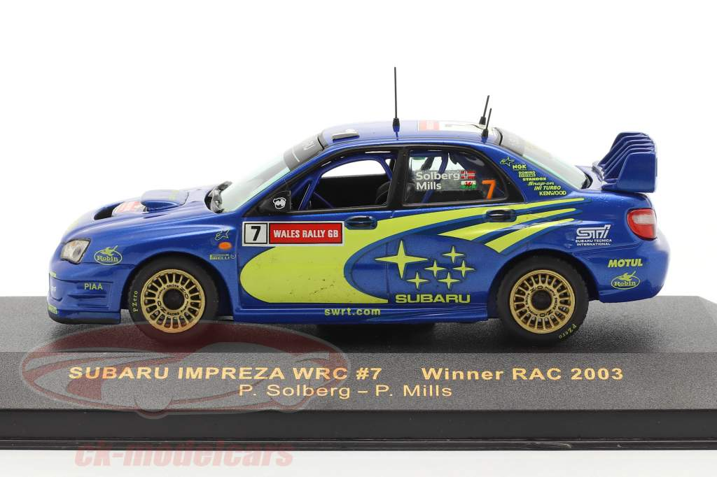 Subaru Impreza WRC #7 vinder RAC 2003 Solberg, Mills 1:43 Ixo
