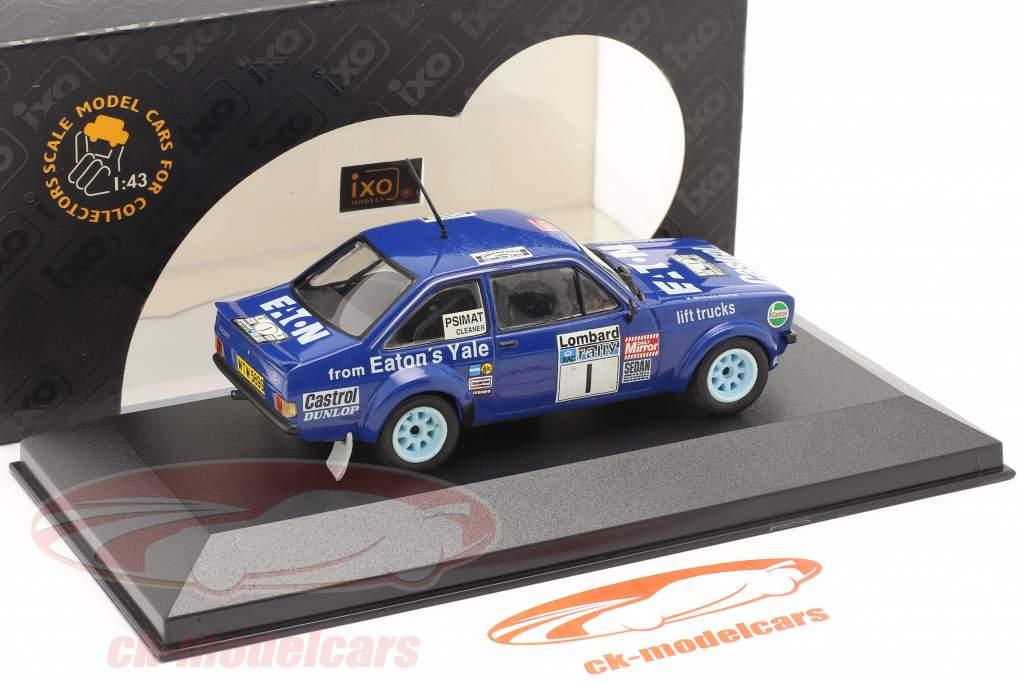 Ford Escort MKII #1 vencedora Lombard corrida 1979 Mikkola, Hertz 1:43 Ixo