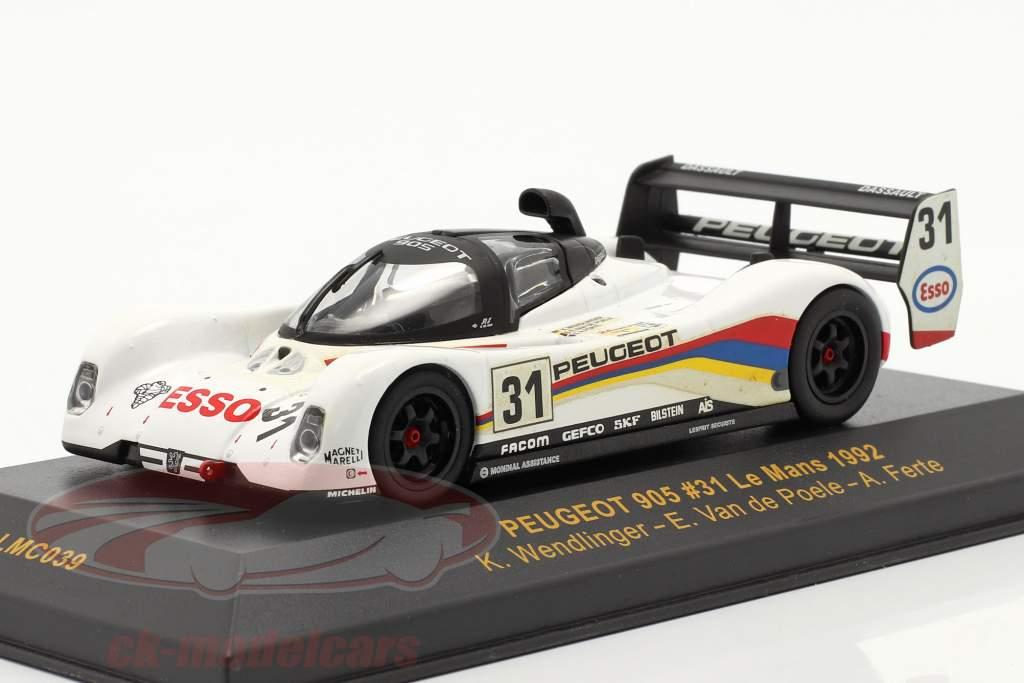 Peugeot 905 #31 LeMans 1992 Wendlinger, Van de Poele, Ferte 1:43 Ixo