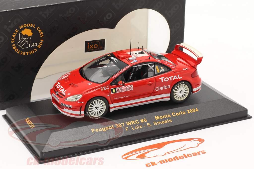 Peugeot 307 WRC #6 corrida Monte Carlo 2004 Loix, Smeets 1:43 Ixo