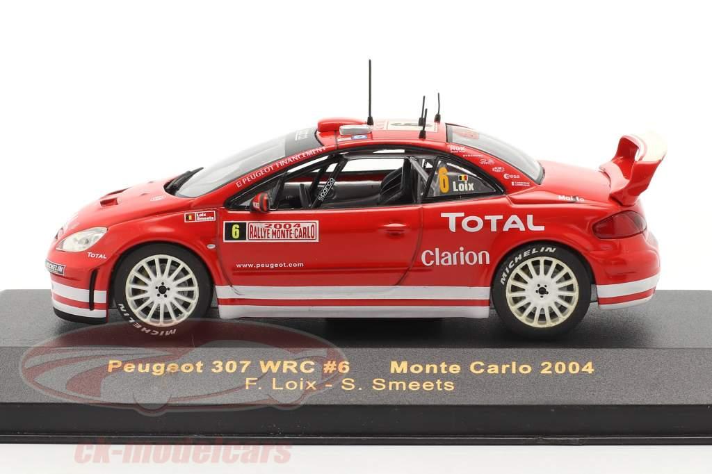 Peugeot 307 WRC #6 se rallier Monte Carlo 2004 Loix, Smeets 1:43 Ixo