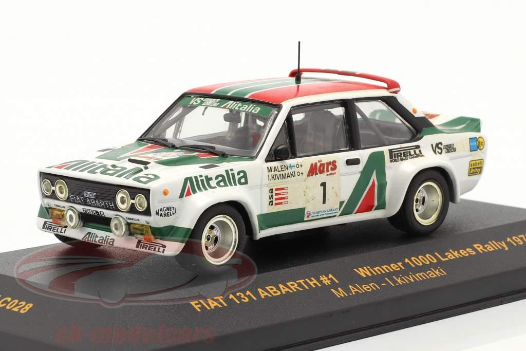 Fiat 131 Abarth #1 vinder 1000 Lakes samle 1979 Alen, Kivimaki 1:43 Ixo