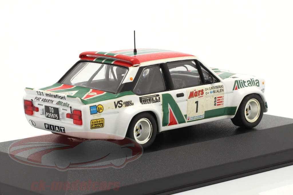 Fiat 131 Abarth #1 winnaar 1000 Lakes rally 1979 Alen, Kivimaki 1:43 Ixo