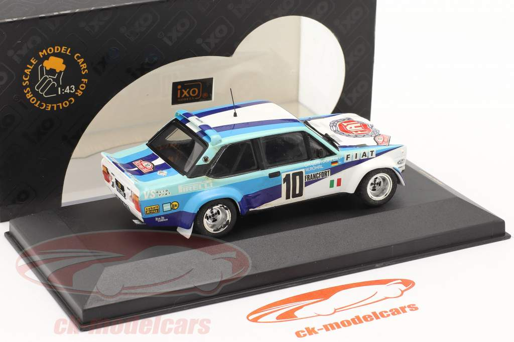 Fiat 131 Abarth #10 vencedora corrida Monte Carlo 1980 Röhrl, Geistdörfer 1:43 Ixo