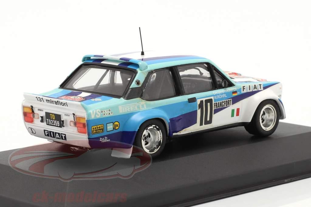 Fiat 131 Abarth #10 gagnant se rallier Monte Carlo 1980 Röhrl, Geistdörfer 1:43 Ixo