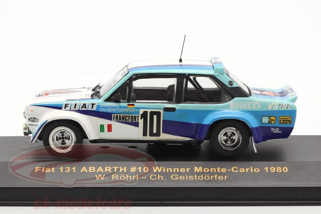 Fiat 131 Abarth #10 winnaar rally Monte Carlo 1980 Röhrl, Geistdörfer 1:43 Ixo