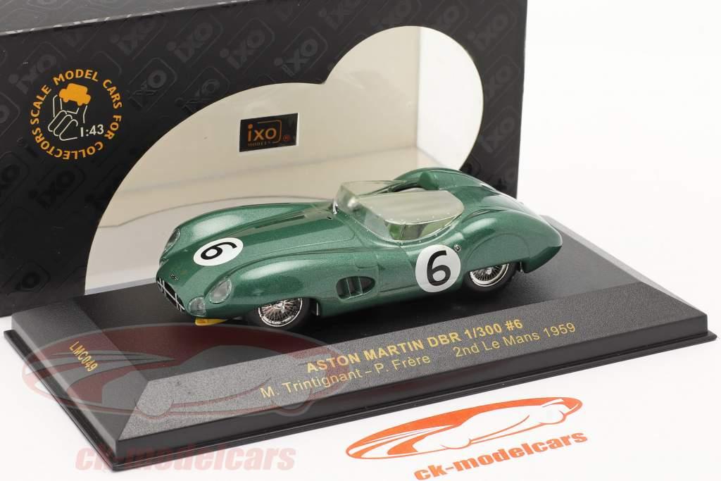 Aston Martin DBR 1/300 #6 LeMans 1959 Trintignant, Frere 1:43 Ixo