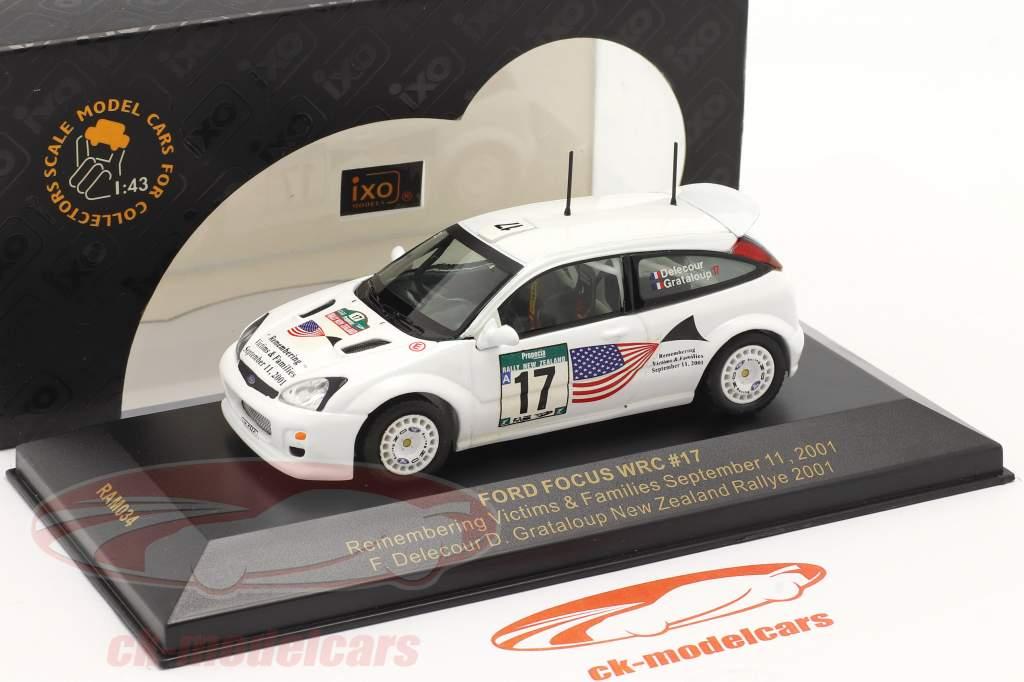 Ford Focus WRC #17 rally Nieuw-Zeeland 2001 Delecour, Grataloup 1:43 Ixo