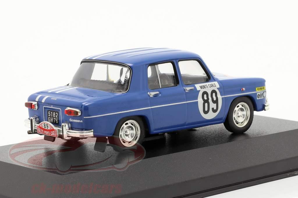 Renault 8 Gordini #89 reunión Monte Carlo 1969 Therier, Callewaert 1:43 Ixo