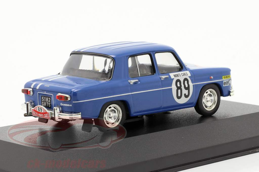 Renault 8 Gordini #89 samle Monte Carlo 1969 Therier, Callewaert 1:43 Ixo