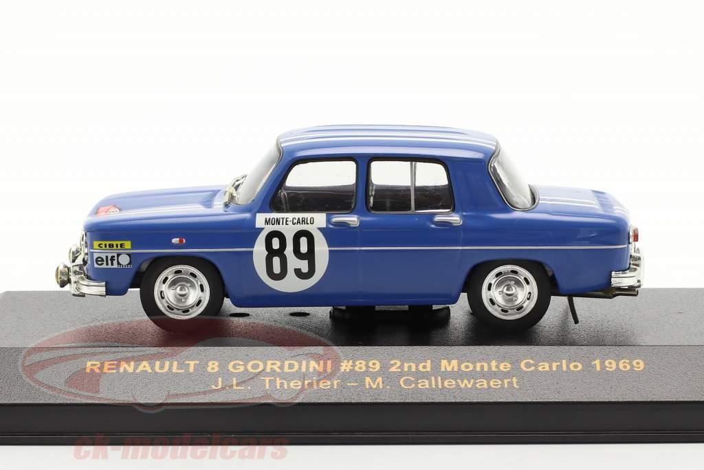 Renault 8 Gordini #89 se rallier Monte Carlo 1969 Therier, Callewaert 1:43 Ixo