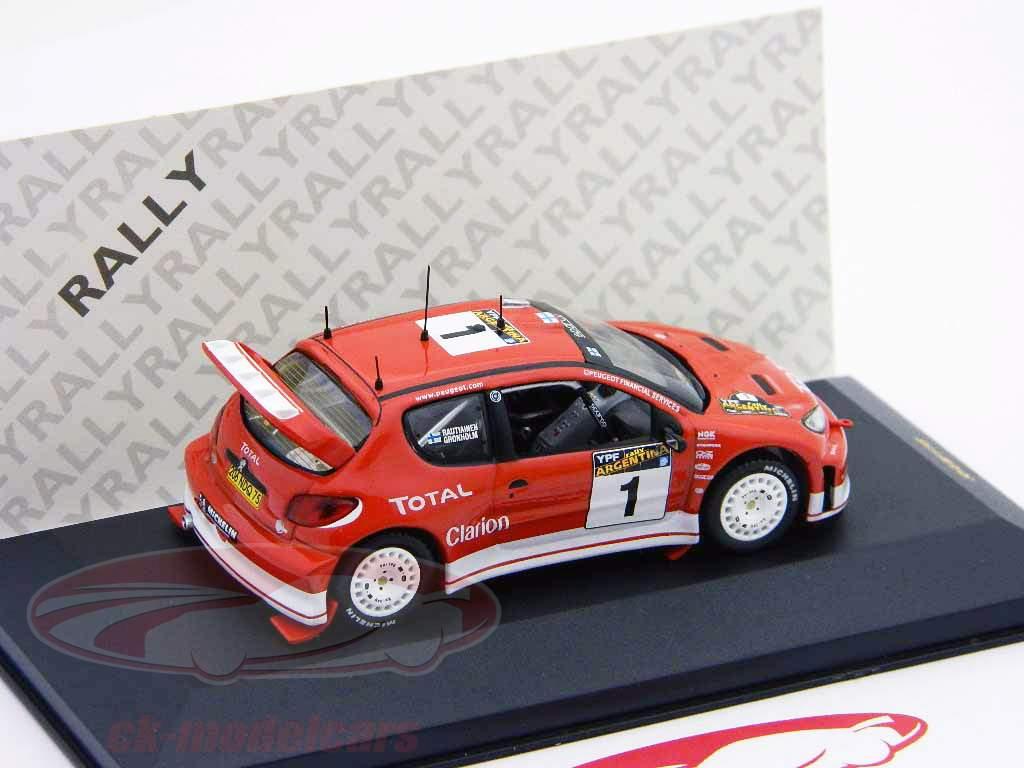 Peugeot 206 WRC #1 ganador reunión Argentina 2003 1:43 Ixo / 2. elección