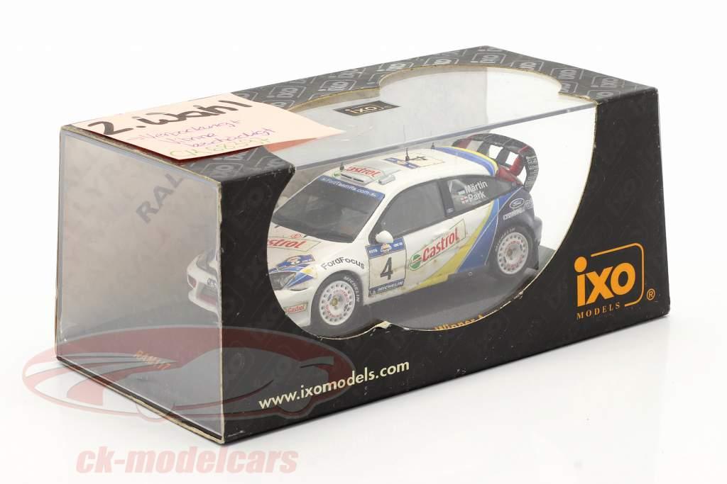 Ford Focus RS WRC EVO3 #4 vencedora Acropolis corrida 2003 Martin, Park 1:43 Ixo / 2 escolha