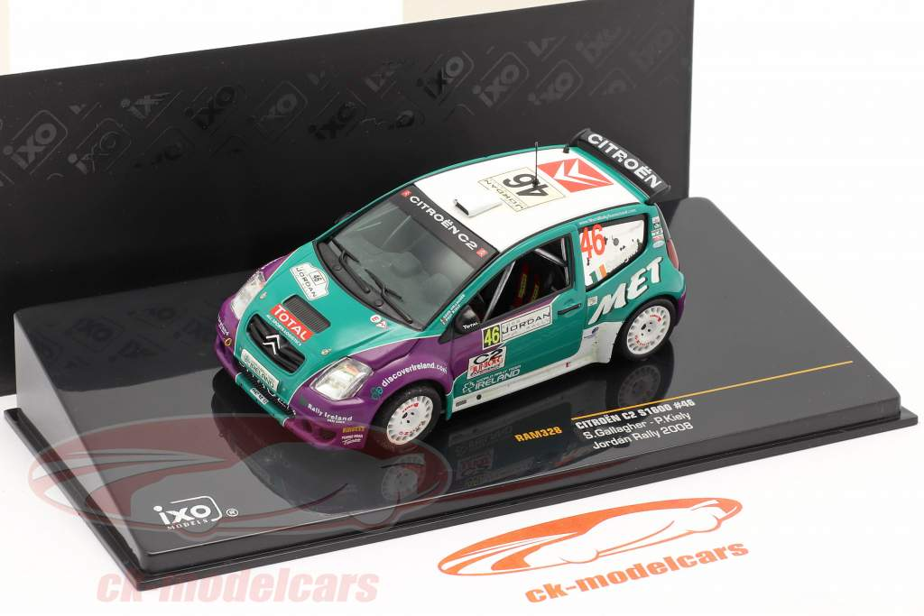 Citroen C2 S1600 #46 Jordan Rallye 2008 Gallagher, Kiely 1:43 Ixo / 2. Wahl