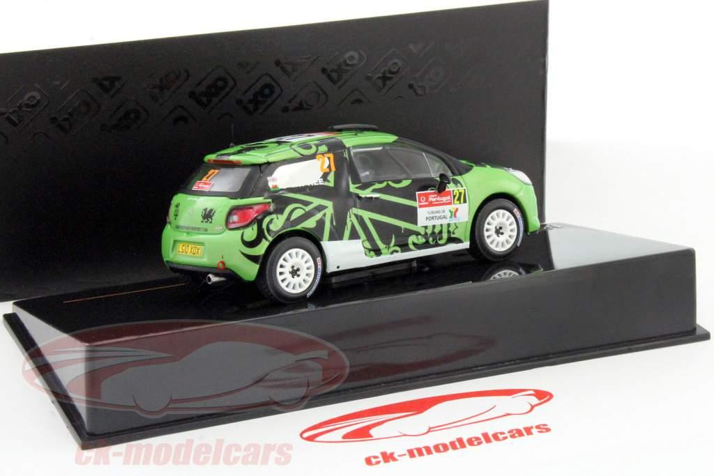 Citroen DS3 R3 #27 corrida Portugal WRC 2011 Hunt / Mcphee 1:43 Ixo / 2 escolha