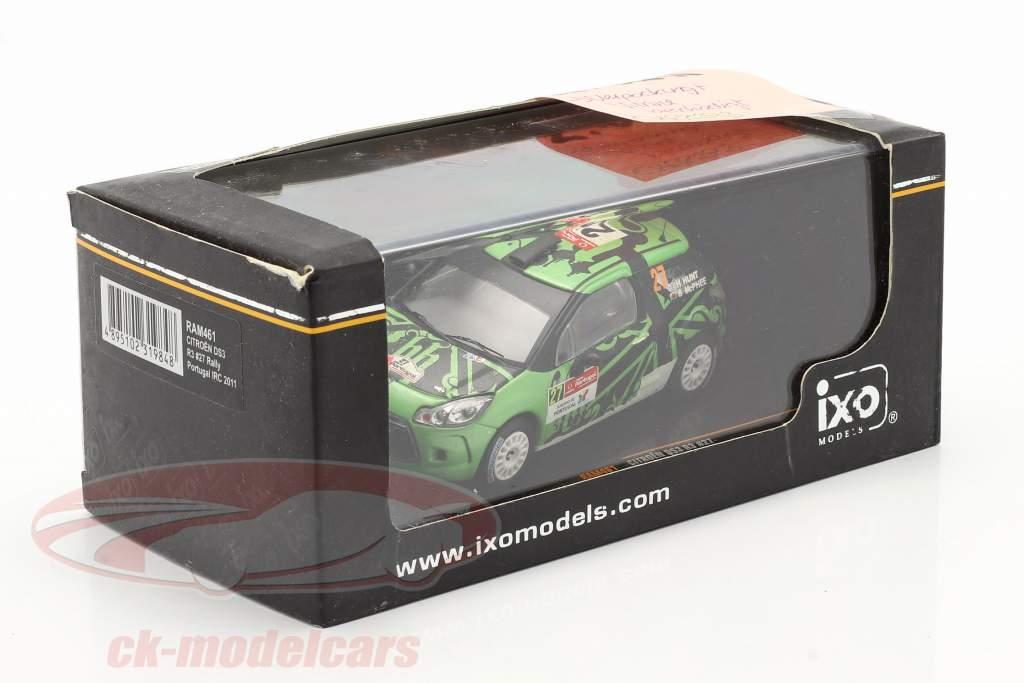 Citroen DS3 R3 #27 reunión Portugal WRC 2011 Hunt / Mcphee 1:43 Ixo / 2. elección
