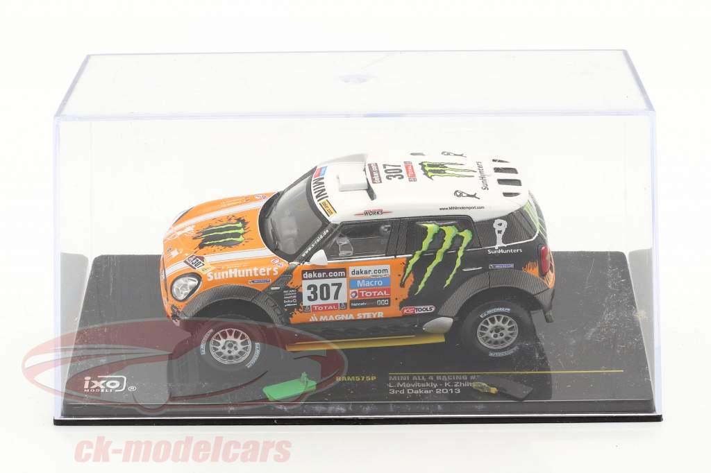 Mini All4 Racing #307 3. samle Dakar 2013 Novitsky, Zhiltsov 1:43 Ixo / 2. valg