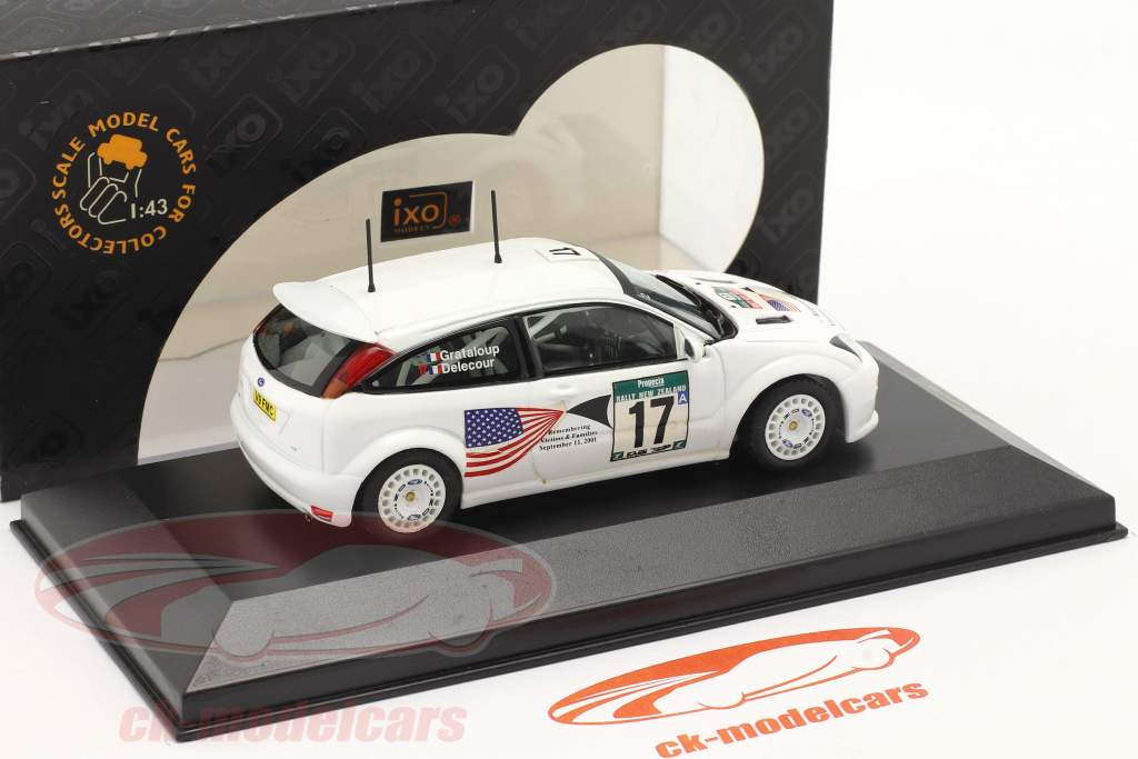 Ford Focus WRC #17 corrida Nova Zelândia 2001 Delecour, Grataloup 1:43 Ixo / 2 escolha