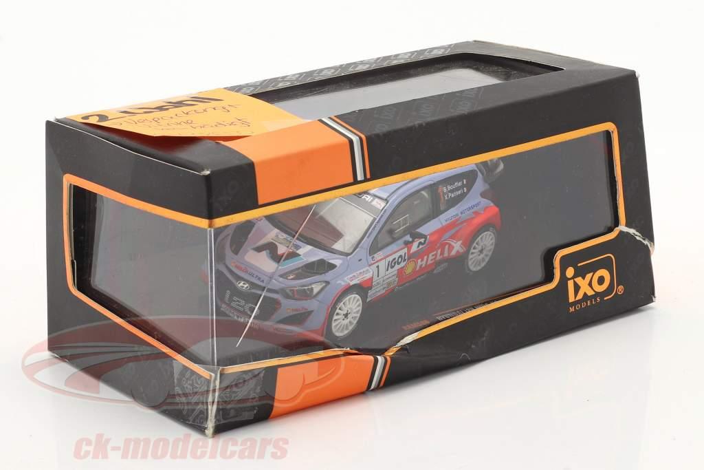 Hyundai i20 WRC #1 Winnaar rally Antibes 2014 Bouffier, Panseri 1:43 Ixo / 2. keuze