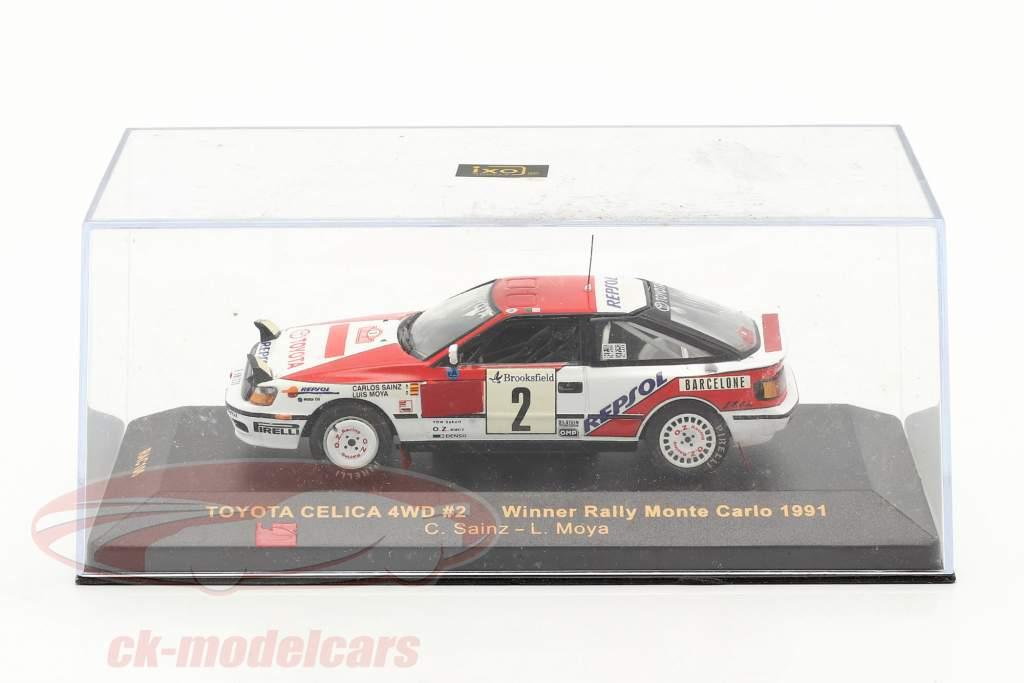 Toyota Celica 4WD #2 vincitore rally Monte Carlo 1991 Sainz, Moya 1:43 Ixo / 2. scelta