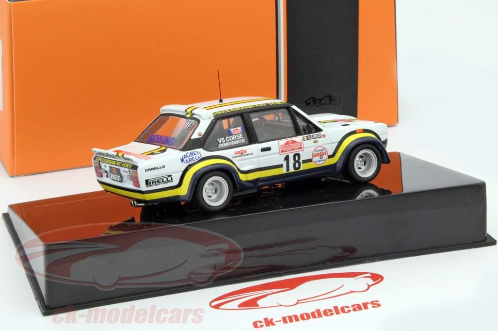 Fiat 131 Abarth #18 rally San Remo 1978 Pasetti, Barban 1:43 Ixo / 2. keuze