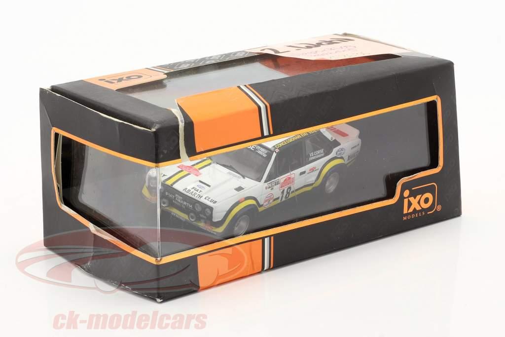 Fiat 131 Abarth #18 corrida San Remo 1978 Pasetti, Barban 1:43 Ixo / 2 escolha