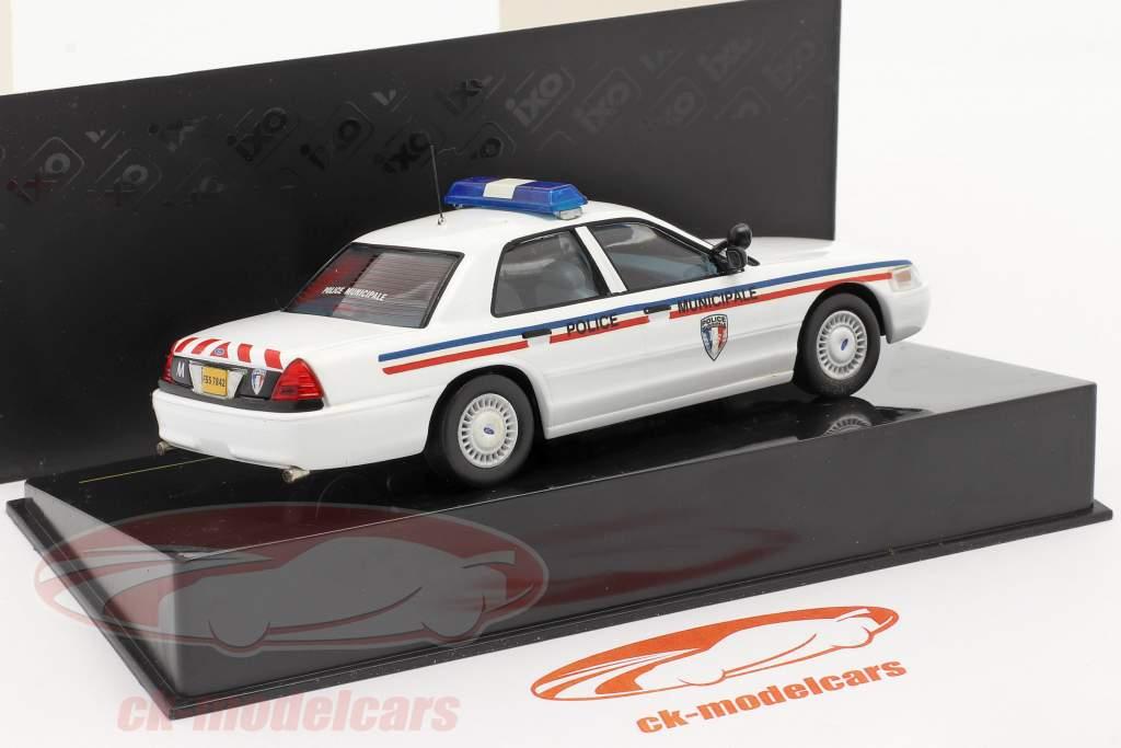 Ford Crown Stadtpolizei von Montpellier weiß 1:43 Ixo / 2. Wahl