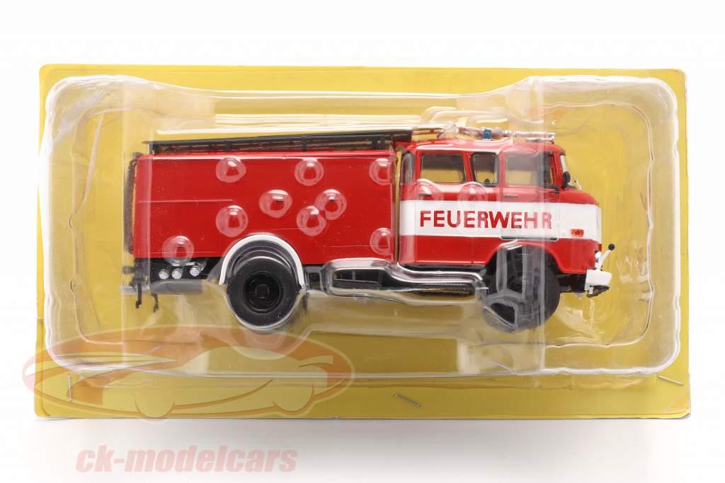IFA W50 LA Camion de pompier pompiers RDA rouge / blanc 1:43 Altaya