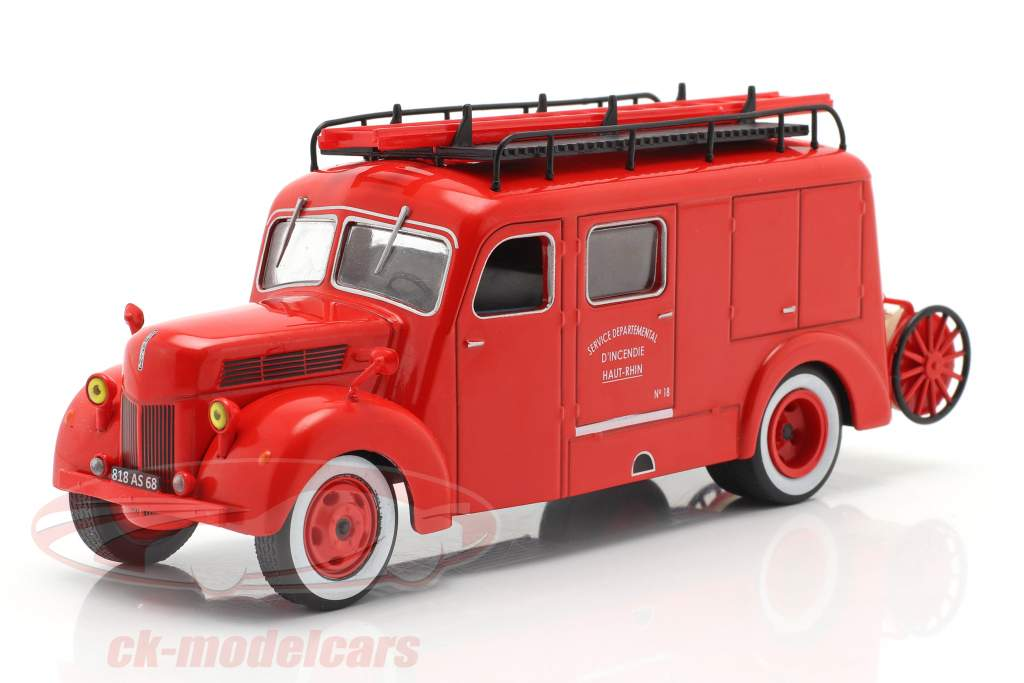 Ford F798T fire department Haut-Rhin red 1:43 Altaya
