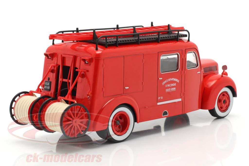 Ford F798T vigili del fuoco Haut-Rhin rosso 1:43 Altaya