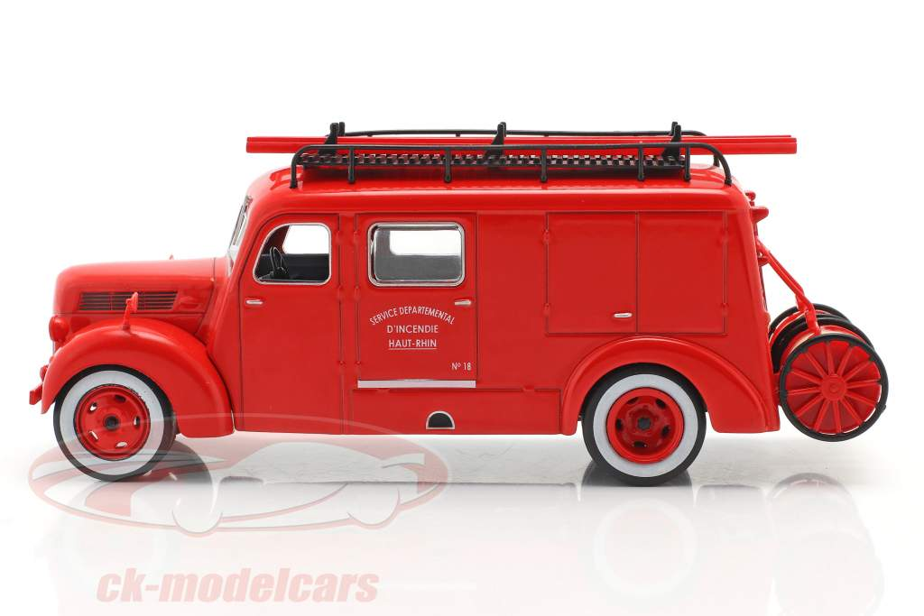 Ford F798T Brandweer Haut-Rhin rood 1:43 Altaya
