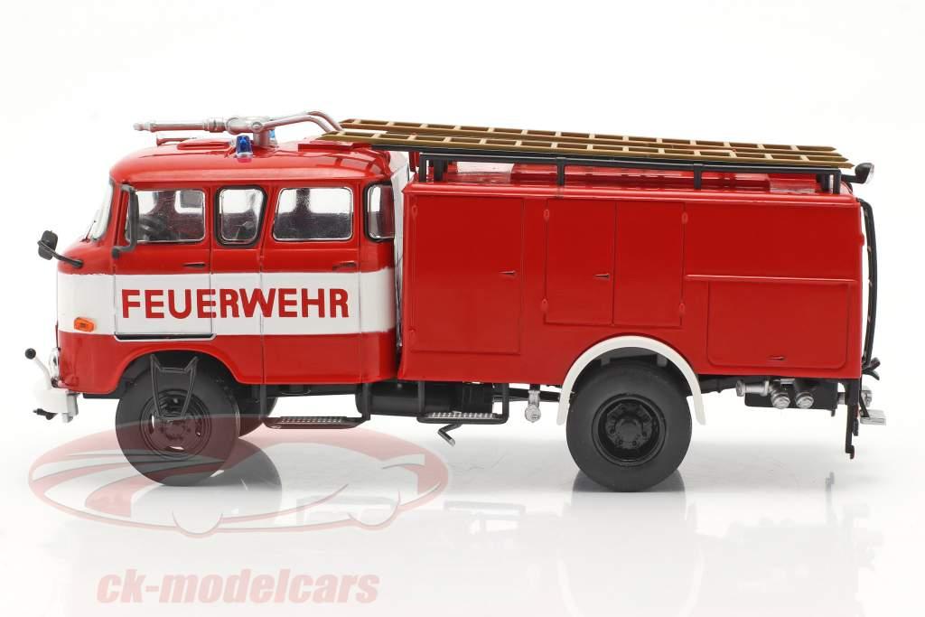 IFA W50 LA Brandweerwagen Brandweer DDR rood / Wit 1:43 Altaya
