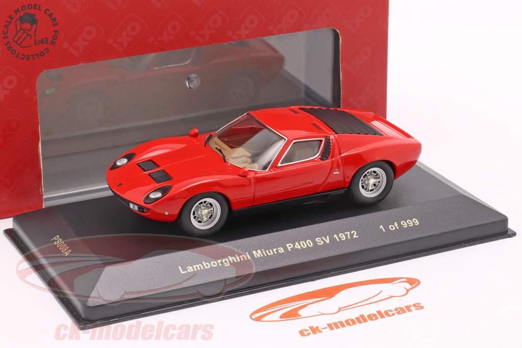 Lamborghini Miura P400 SV år 1972 rød 1:43 Ixo