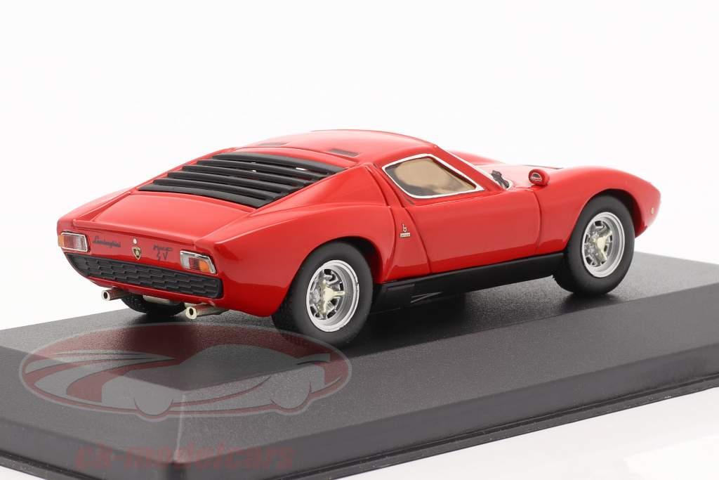 Lamborghini Miura P400 SV jaar 1972 rood 1:43 Ixo