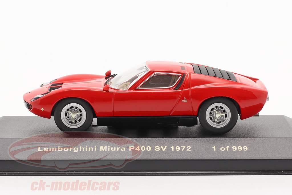 Lamborghini Miura P400 SV anno 1972 rosso 1:43 Ixo