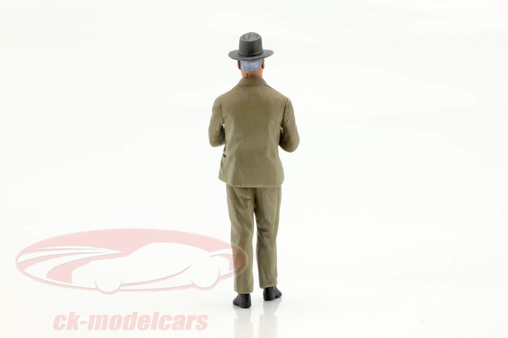 Enzo Ferrari Jaren 50 Jaren figuur 1:18 LeMansMiniatures