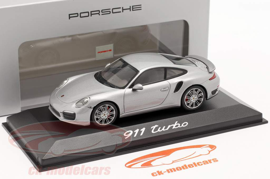 Porsche 911 (991) Turbo year 2013 silver 1:43 Minichamps