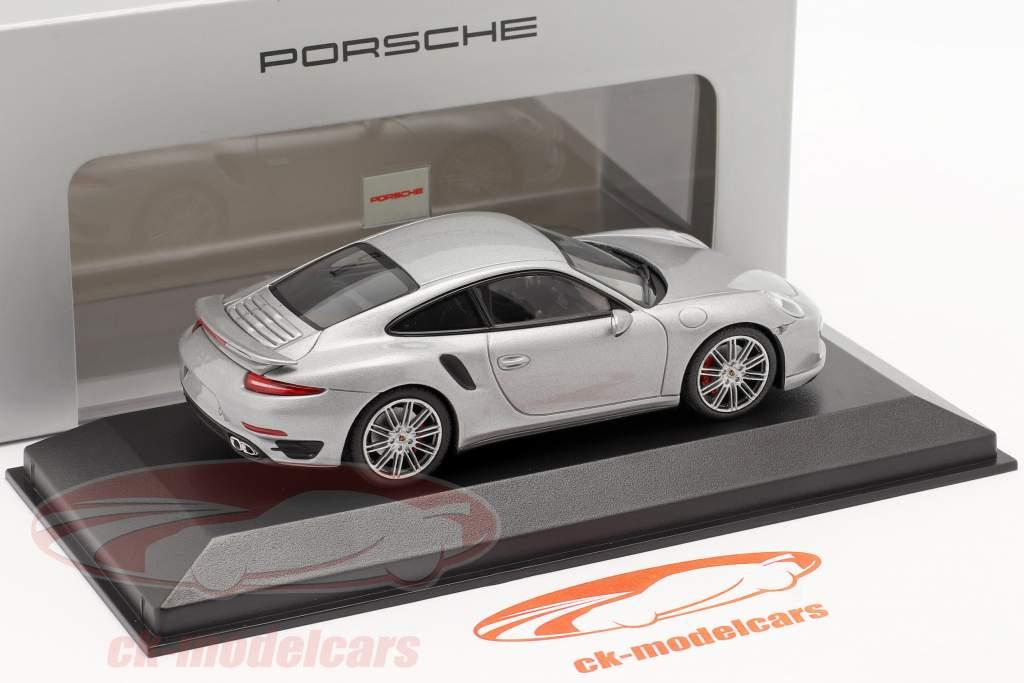 Porsche 911 (991) Turbo Ano 2013 prata 1:43 Minichamps