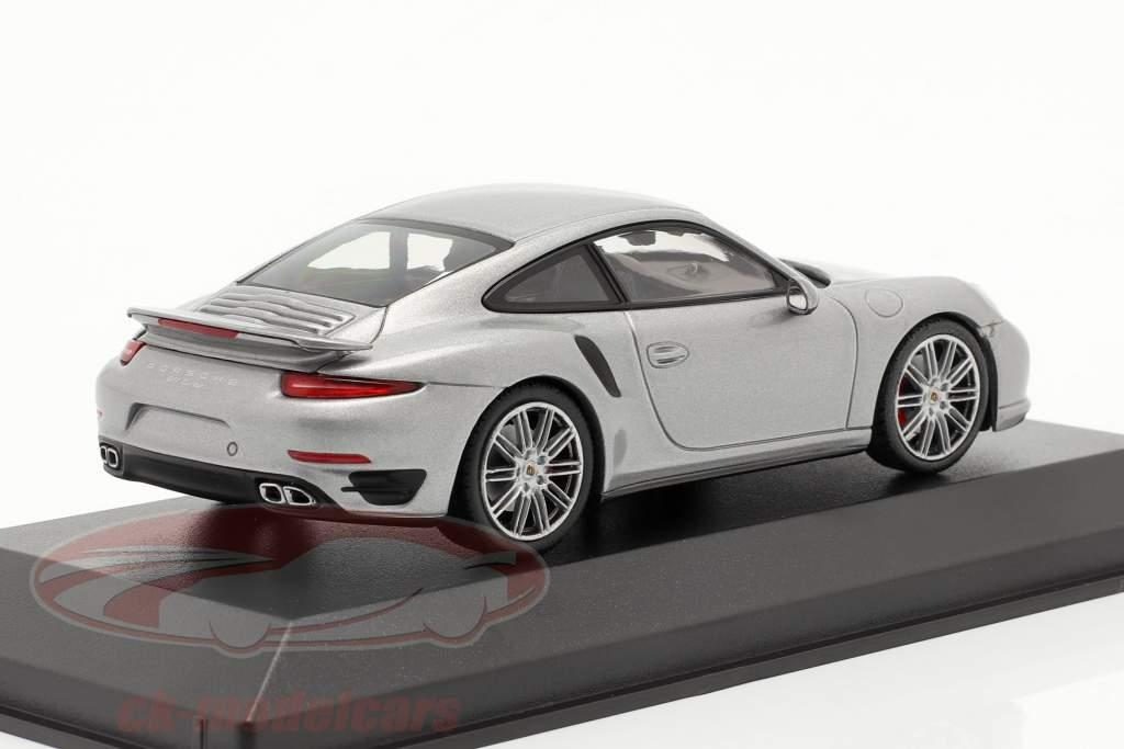 Porsche 911 (991) Turbo anno 2013 argento 1:43 Minichamps