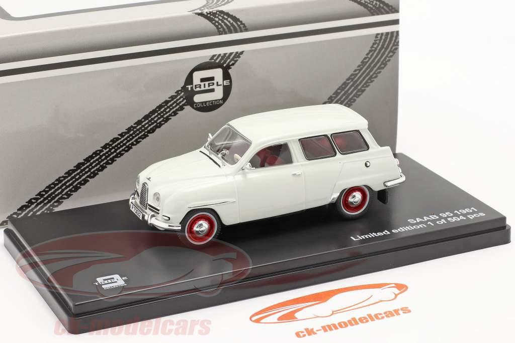 Saab 95 år 1961 hvid 1:43 Triple9