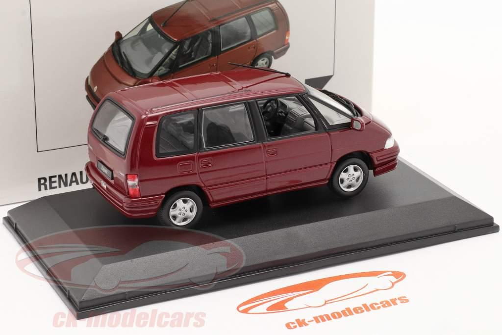 Renault Espace Año 1992 malaga rojo metálico 1:43 Norev