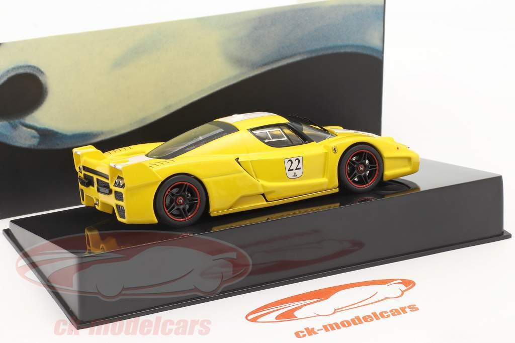 Ferrari FXX #22 amarelo 1:43 HotWheels Elite