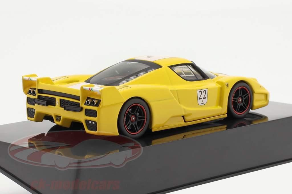 Ferrari FXX #22 yellow 1:43 HotWheels Elite